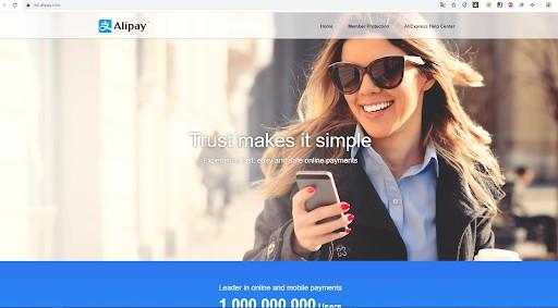 Trang thanh toán trực tuyến Alipay
