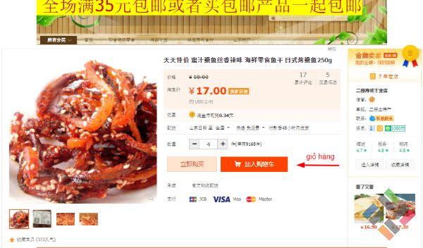 Cách xem phí vận chuyển trên Taobao - Hình 4