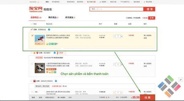 Mua hàng Taobao bằng thẻ Visa - Hình 3
