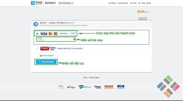 Mua hàng Taobao bằng thẻ Visa - Hình 5