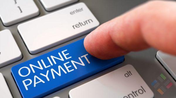 Nút bàn phím máy tính để tên Online payment