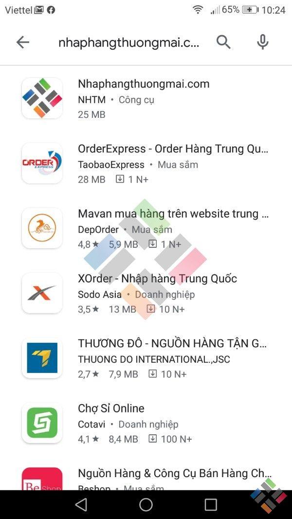 tải app nhập hàng thương mại