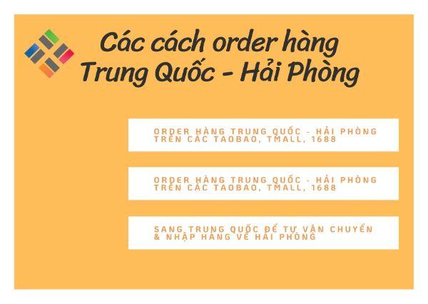 3 cách order hàng Trung Quốc - Hải Phòng